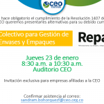 Invitación comité ambiental CEO